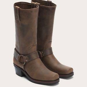 Frye Harness 12R Brown Cowboy Boots